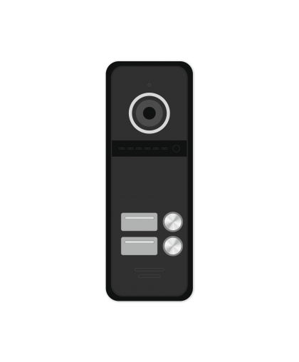 FANTASY 2 HD BLACK - 2 абонентская HD вызывная панель 1.3 Мп