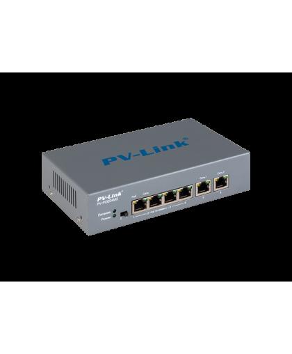 PV-POE04M2 - 6 портовый коммутатор 10/100 Мбит/с с 4 портами PoE